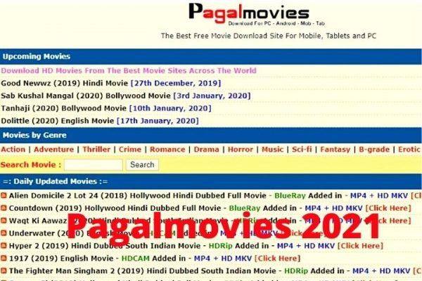 Pagalmovies   Watch Latest South Indian Dubbed, Hollywood, Bollywood Movies In 2021
